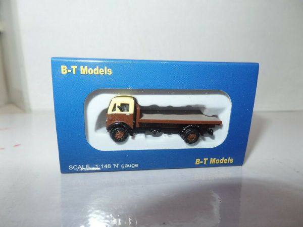 B T Models NP009 1/148 N Gauge Albion CX3 Flatbed Chocolate & Cream GWR ?